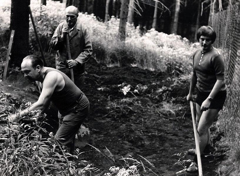 Rennsteiggarten Oberhof, 50 Jahre Jubiläums-Ausstellung  - die ersten Jahre