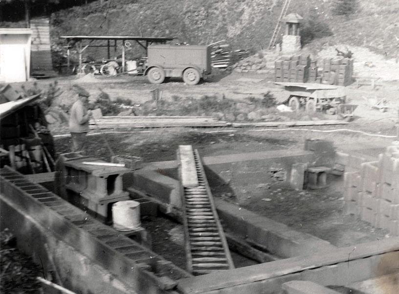 Rennsteiggarten Oberhof, 50 Jahre Jubiläums-Ausstellung Bau des Hauptgebäudes