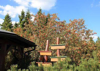 Rennsteiggarten Oberhof - Rundgang - Pfantalskopf mit Wegweiser